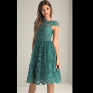 ChiChi London Cap Sleeve Tea Dress